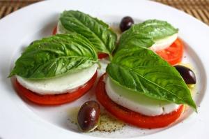 Caprese and Vintage-Marinated Olives