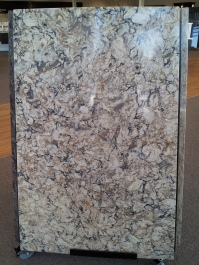 This gorgeous Cambria Slab will work perfectly with our color scheme!