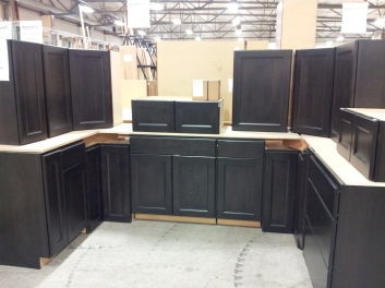 Found this beautiful Dark Roast Beech cabinetry in Post Falls, Idaho. The color is only available in Canada, so we'll have to see if they can special order it for us.