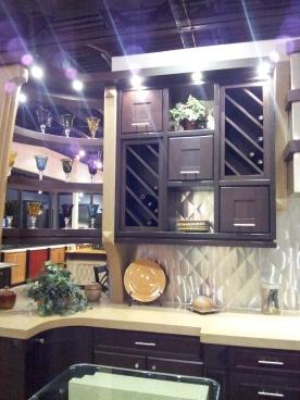 We like the slanting wine racks!